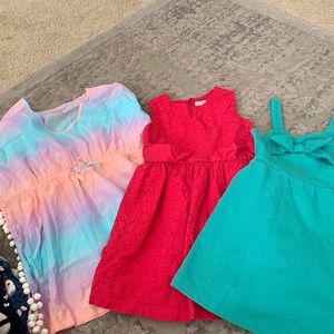 Lot of girls dresses 5T. H&M, Cat & jack